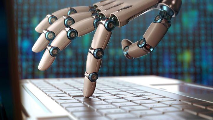 写真:AI を活用したロボットハンド